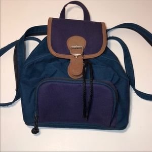 Vintage Mini Colorblock Backpack